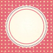 Vintage hearts seamless background. Circle frame. Place for text — Stock Vector