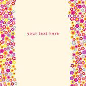 Sfondo fiore. illustrazione vettoriale. posto per il testo — Vettoriale Stock