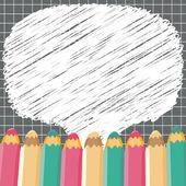 School speech bubbles. Vector illustration. — Stock Vector