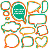 Cartoon speech bubbles. Different sizes and forms. Vector illust — Stock Vector