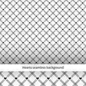 Heart seamless diagonal background. Seamless pattern can be used — Stock Vector