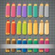 Set of color pencils.  — Stock Vector