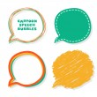 Cartoon speech bubbles. — Stock Vector