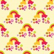 Flower rainbow seamless pattern. — Stock Vector