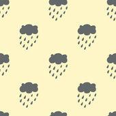 Moln regn seamless mönster. — Stockvektor