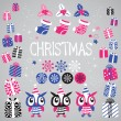 Christmas vector elements set for festive design. — Stock Vector