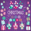 Christmas vector elements set — Stock Vector