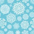Snowflakes Seamless background.  — Stock Vector