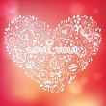 Heart love pattern. — Stock Vector #35936581