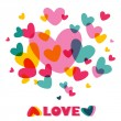 Heart Love. Concept vector card with text.  — Imagen vectorial