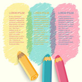 Speech bubbles with pencils. — Stock Vector