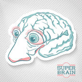 Creative Brain Illustration. — Stock Vector
