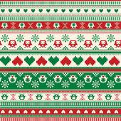 Winter Sweater pattern — Stock Vector