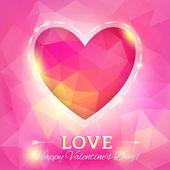 Corazón. feliz día de san valentín tarjeta — Vector de stock