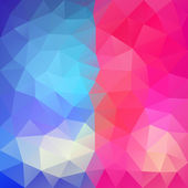 Blue-Pink abstract polygonal background. — Stock Vector