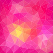 Pink abstract polygonal background — Stock Vector