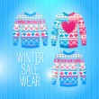 Sweater. Sale Winter Illustration — Vector de stock #40027743