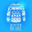 Sweater. Sale Winter Illustration. — Vector de stock #40027775
