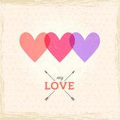幸せなバレンタインデーのカード. — ストックベクタ