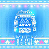 Sweater. Sale Winter Illustration — Vector de stock
