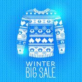 Maglione. illustrazione di inverno in vendita. — Vettoriale Stock