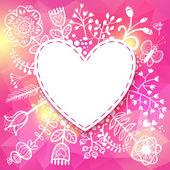 Flower Heart frame. — Stock Vector