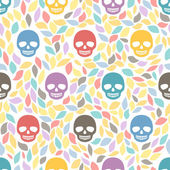 Funny sugar skulls. — Stock Vector