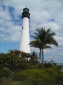 North view of the Lighthouse bay biscayne florida — Stock Photo