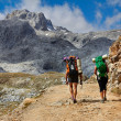 Foto Stock: High mountains trekking Spain