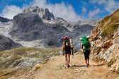 High mountains trekking Spain — Stock Photo