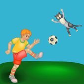 Junior voetbal — Stockvector