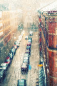 Rainy days,Rain drops on window — Stock Photo