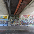 Graffiti   on the metro walls — Stock Photo
