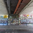 Graffiti on metro walls — Stock Photo #34626237