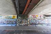 Graffiti on the metro walls — Stock Photo