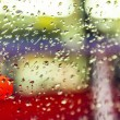 Raindrops on glass — Stock Photo
