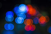 Blurred Defocused Lights of Heavy Traffic — Stock Photo