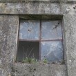 Old broken window — Stock fotografie