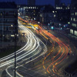 Traffic in  the city at night — Stock Photo
