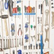Tools on the wall — Stock Photo