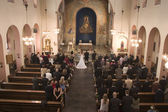 Wedding in the church — Stock Photo