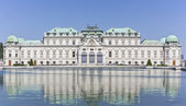 Belvedere palace in wien in summer time — Stock Photo