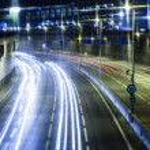 Car lights trails — Stock Photo #37975171