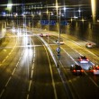Car lights trails — Stock Photo