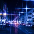City street at night — Stock Photo