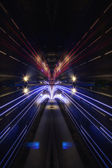 Light trail view at a busy highway — Stock Photo
