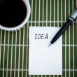 Foto Stock: Idea on a Napkin