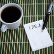 Foto de Stock  : Idea on a Napkin