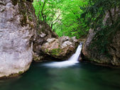 Small woodland waterfall — Stock Photo