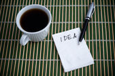 Idea on a Napkin — Stock Photo
